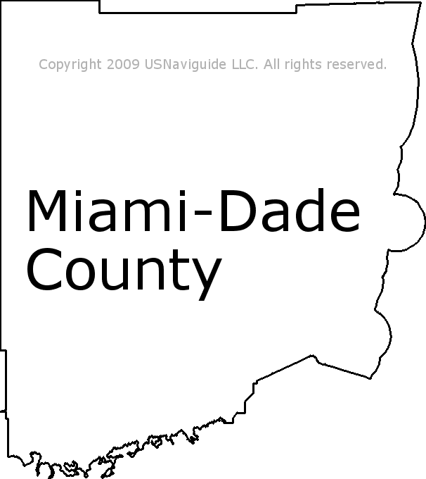 Florida County Map Google.Miami Dade County Florida Zip Code Boundary Map Fl