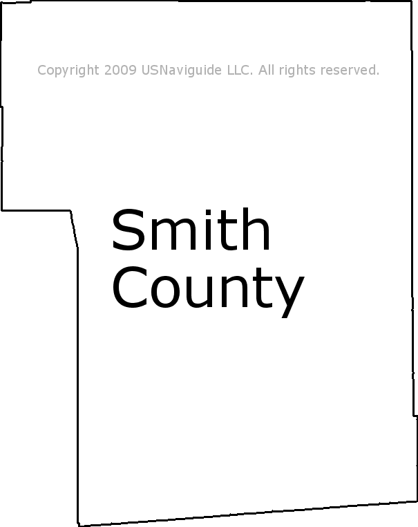 Smith County Mississippi Zip Code Boundary Map Ms